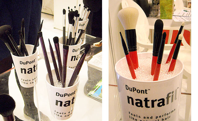 Natrafil brushes from Make-up in Paris event