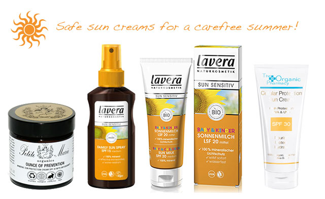 Green make-up favorite selection of sunscreens