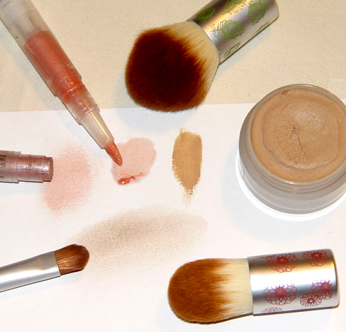 Nude make-up with natural cosmetics