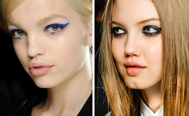 eyeliner on fall 2012 runways