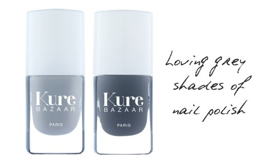 Kure bazaar winter nail polishes Cashmere and Smokey. You can see them on my hands on top photo.