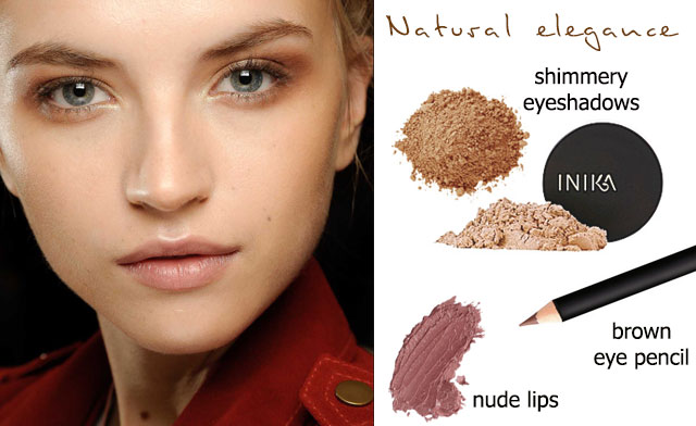Valentine nude brown inspired look: Natural elegance  (left picture from Vera Wang  spring 2013)