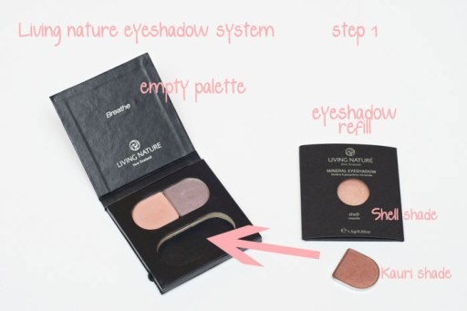 Living nature eyeshadow refill system