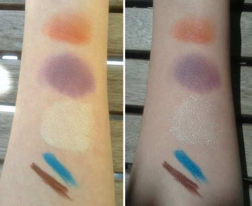 Neve swatches, left in the shadow, right on direct daylight