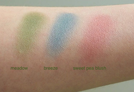 Pure Anada swatches -summer makeup suggestions