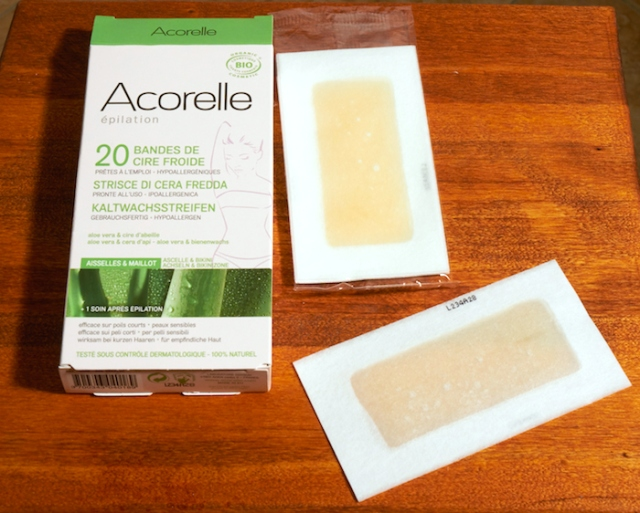 Acorelle cold strips for underarms and bikini